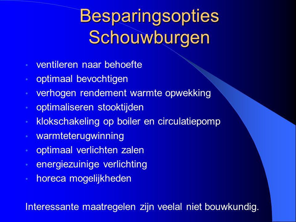Besparingsopties Schouwburgen