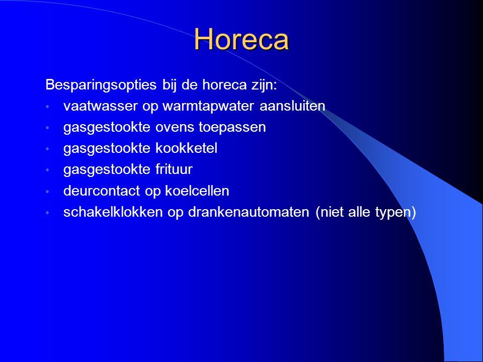 Horeca Besparingsopties bij de horeca zijn: