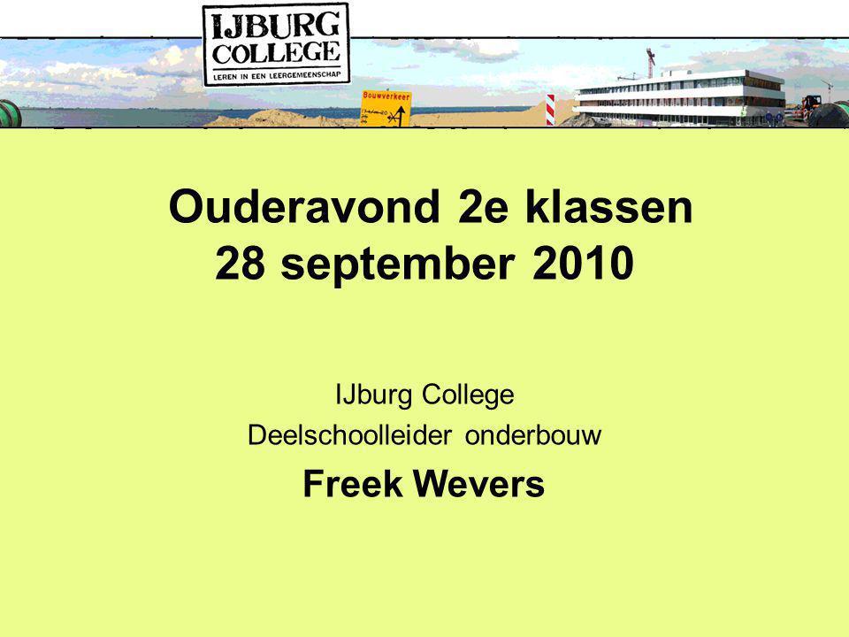 Ouderavond 2e klassen 28 september 2010