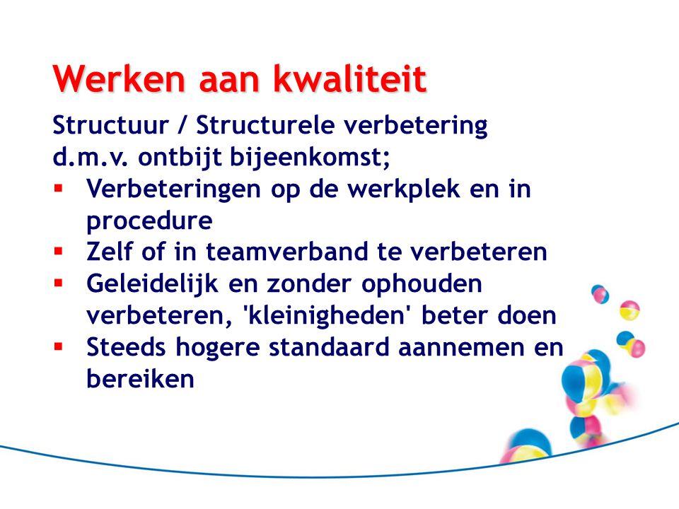 Werken aan kwaliteit Structuur / Structurele verbetering