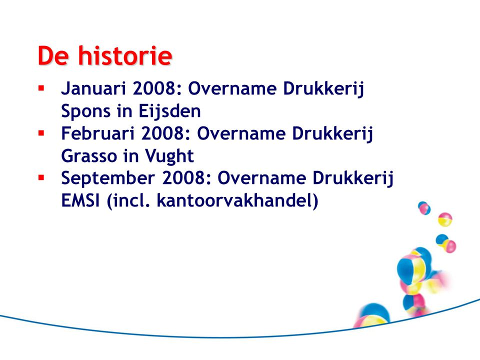 De historie Januari 2008: Overname Drukkerij Spons in Eijsden