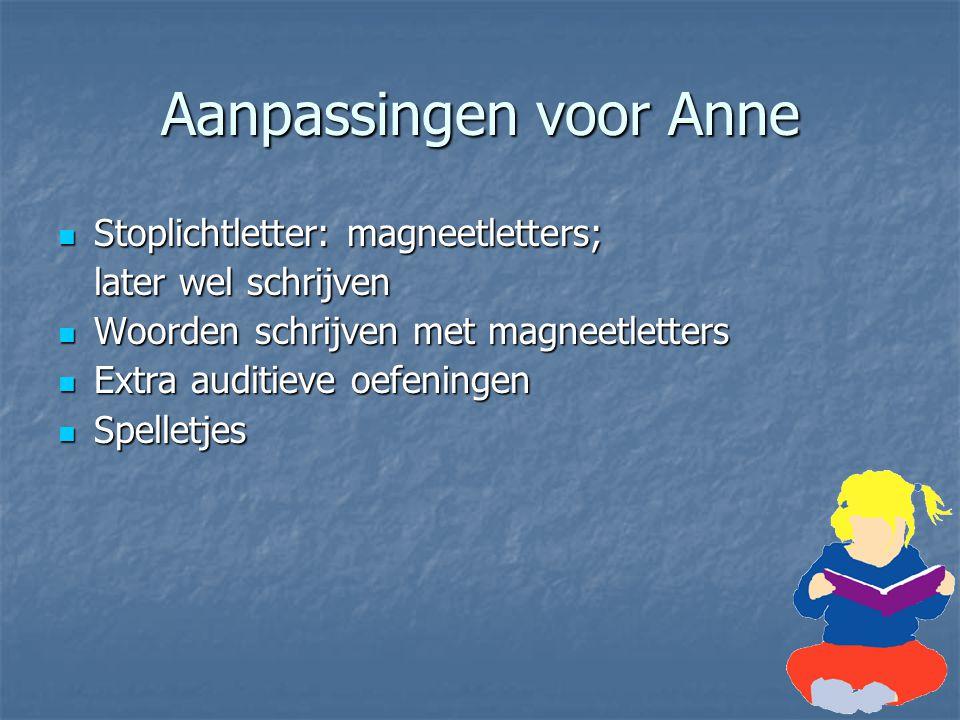 Aanpassingen voor Anne