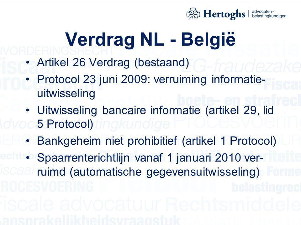 Verdrag NL - België Artikel 26 Verdrag (bestaand)