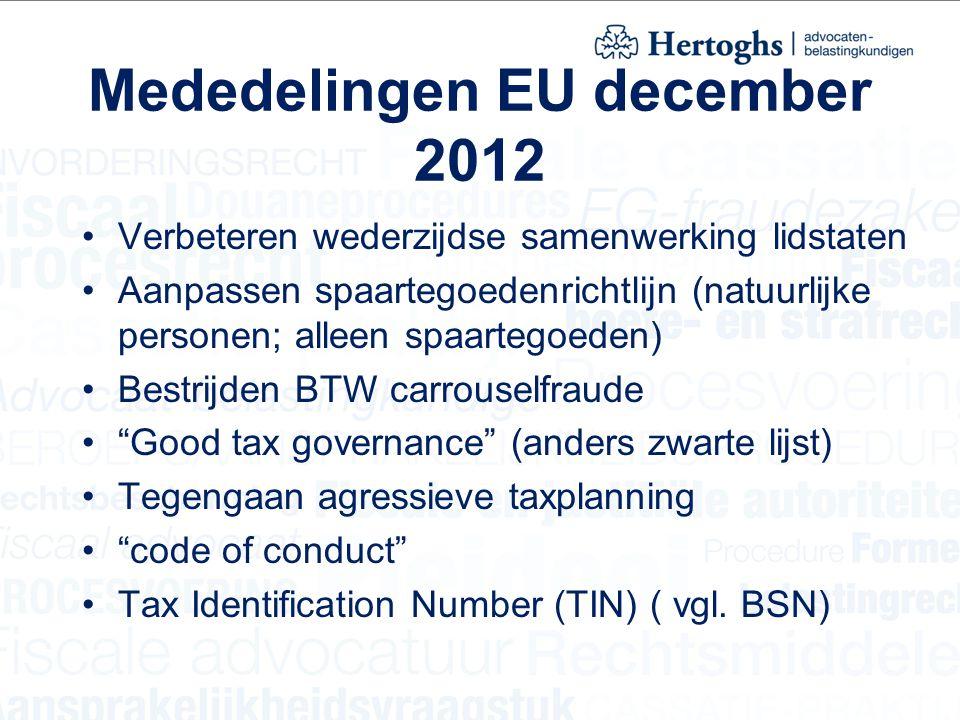 Mededelingen EU december 2012