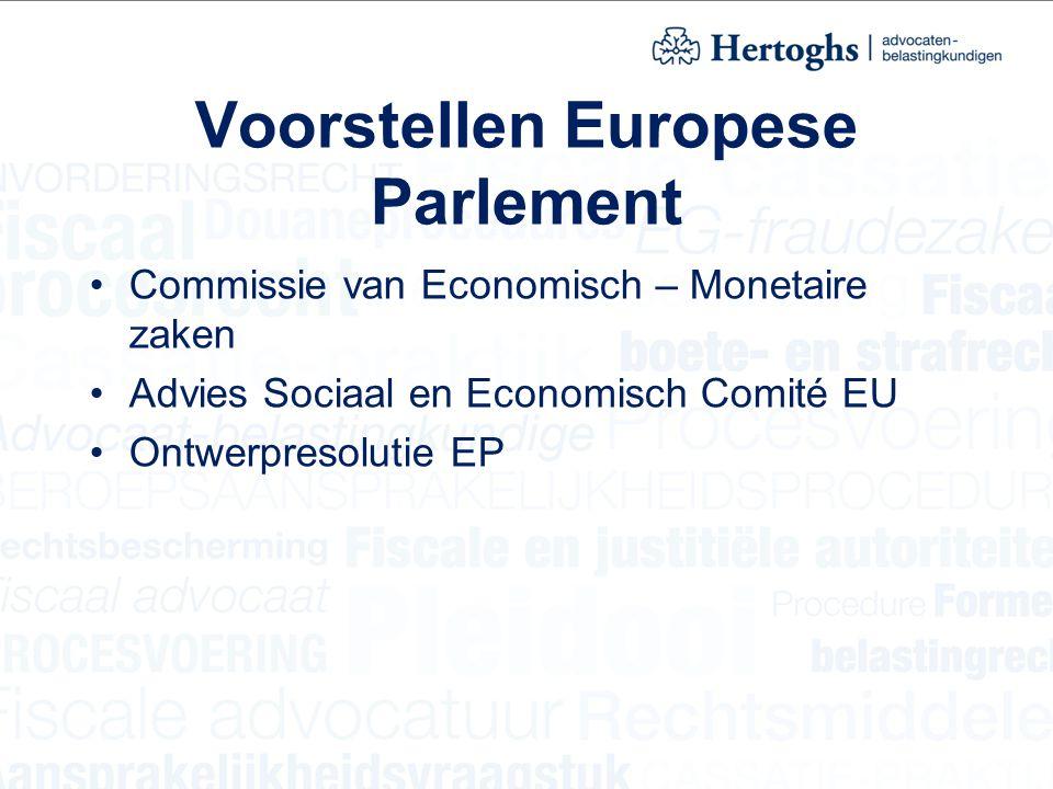 Voorstellen Europese Parlement