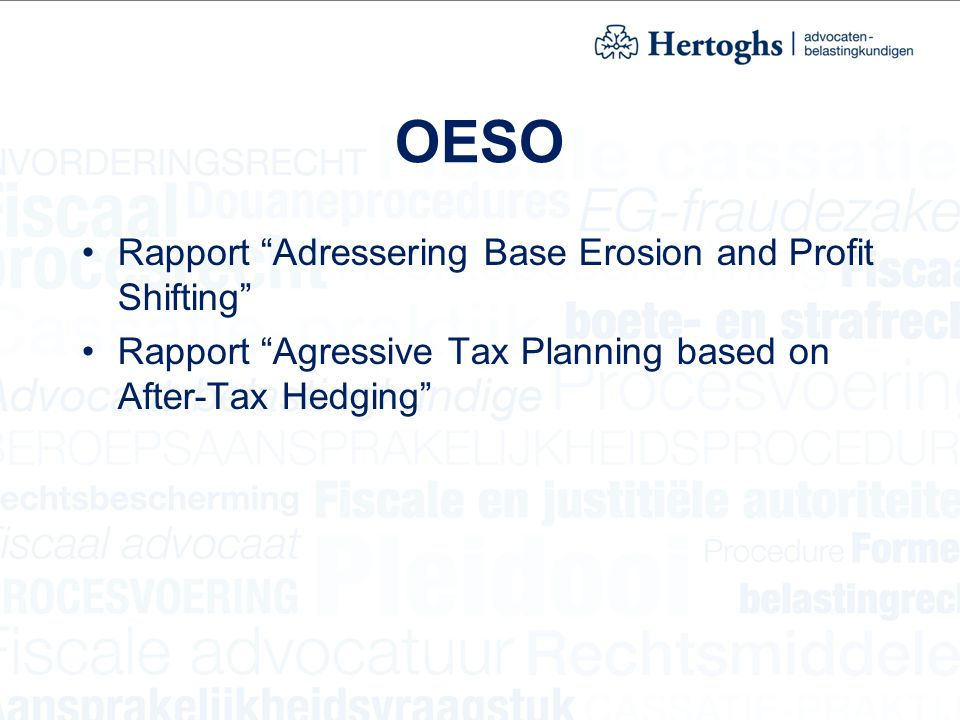 OESO Rapport Adressering Base Erosion and Profit Shifting