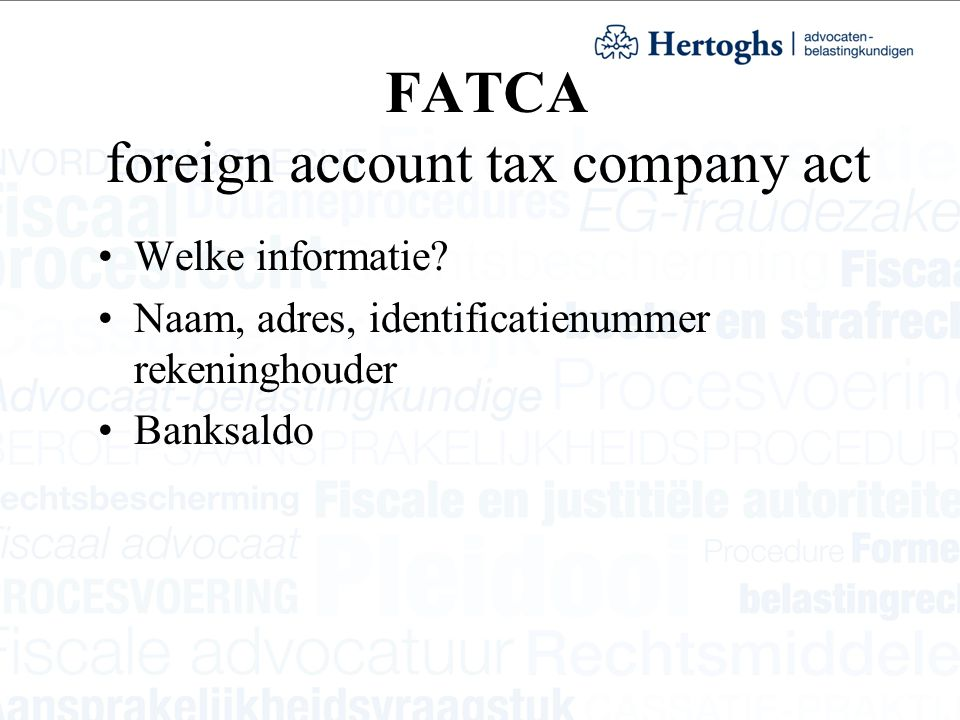 FATCA foreign account tax company act