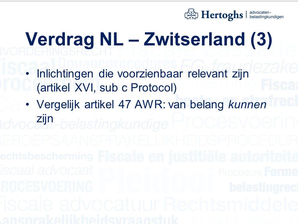 Verdrag NL – Zwitserland (3)