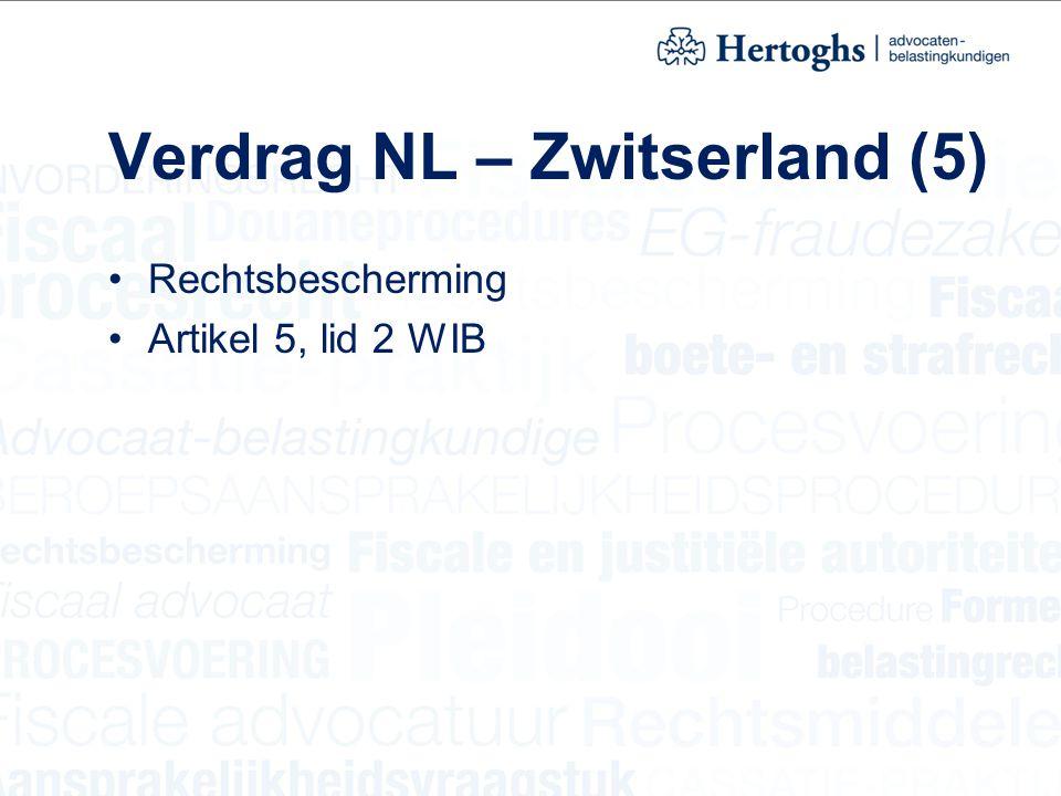 Verdrag NL – Zwitserland (5)