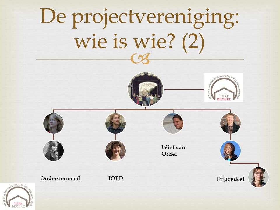 De projectvereniging: wie is wie (2)