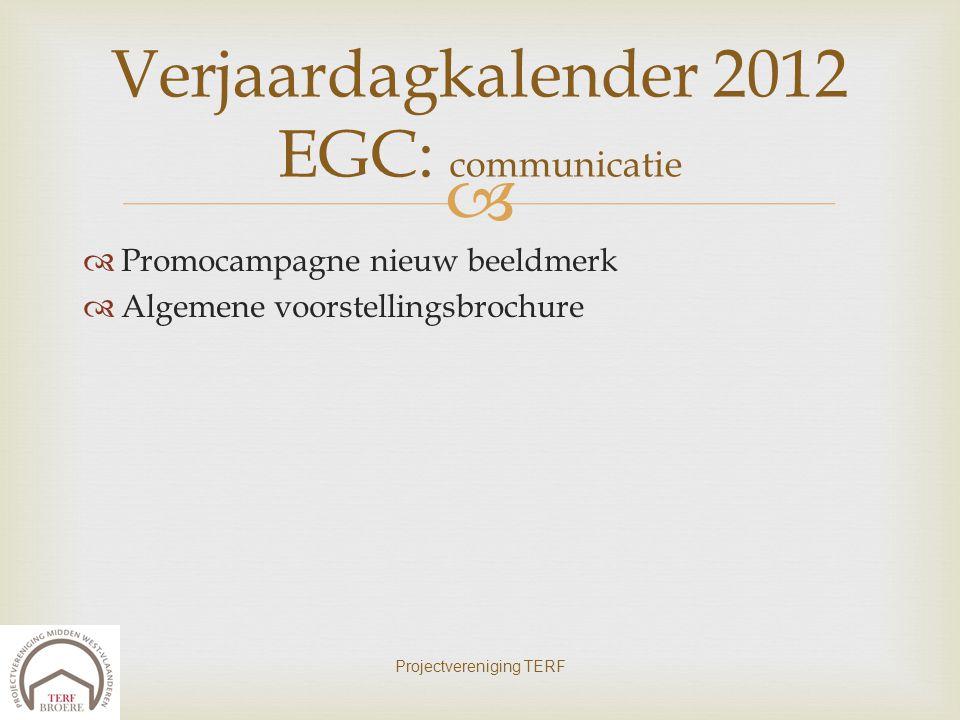 Verjaardagkalender 2012 EGC: communicatie