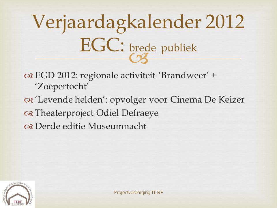 Verjaardagkalender 2012 EGC: brede publiek