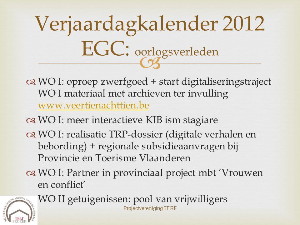 Verjaardagkalender 2012 EGC: oorlogsverleden