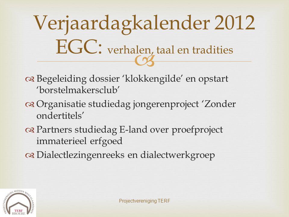 Verjaardagkalender 2012 EGC: verhalen, taal en tradities