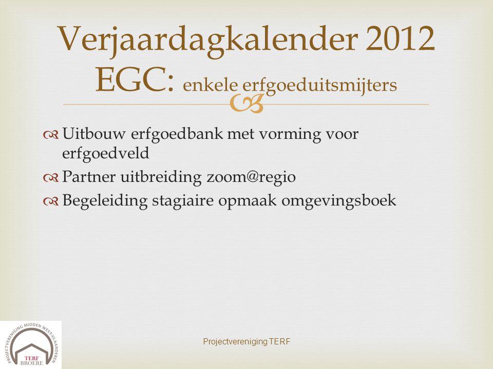 Verjaardagkalender 2012 EGC: enkele erfgoeduitsmijters