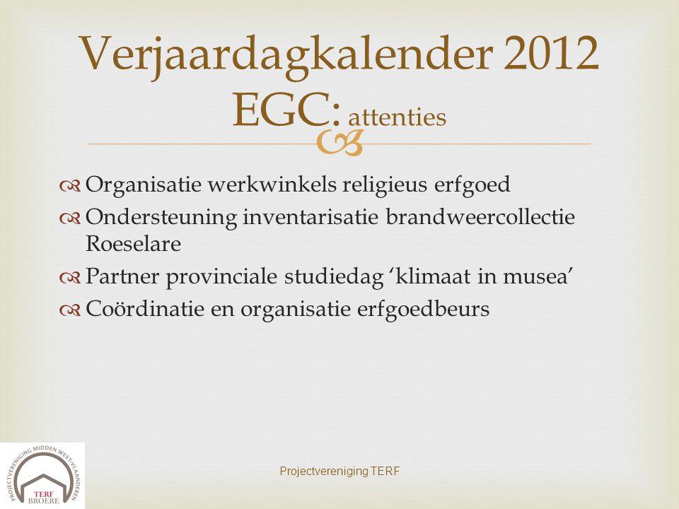 Verjaardagkalender 2012 EGC: attenties