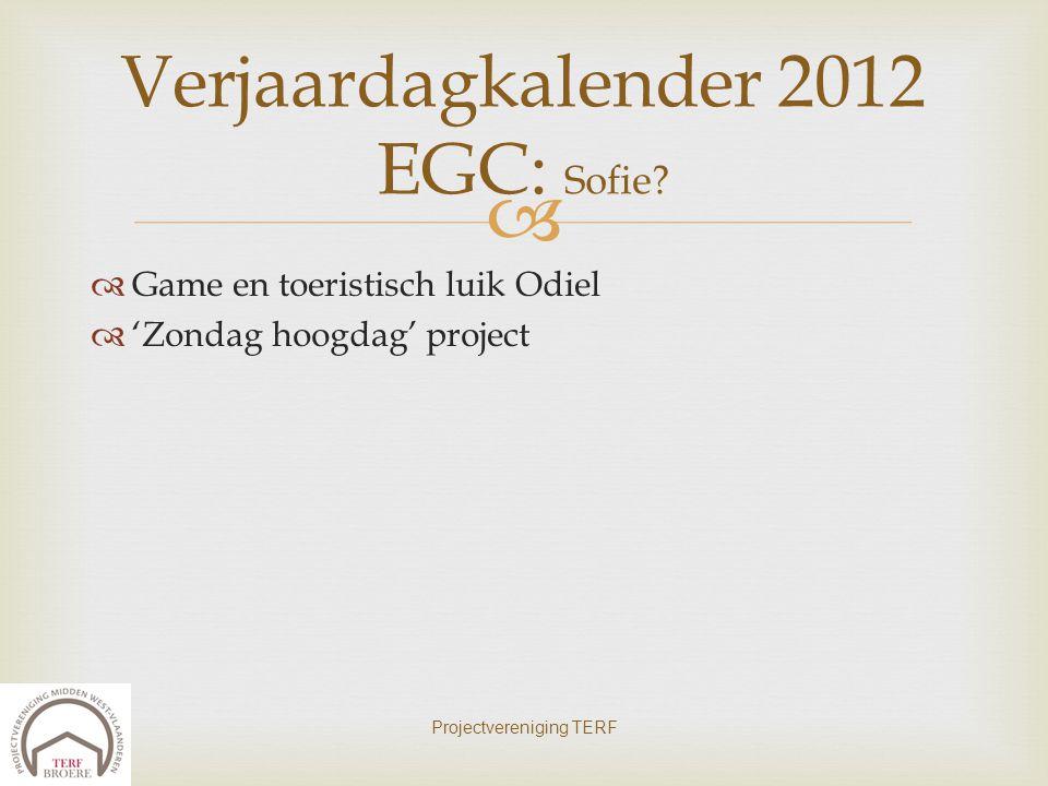 Verjaardagkalender 2012 EGC: Sofie