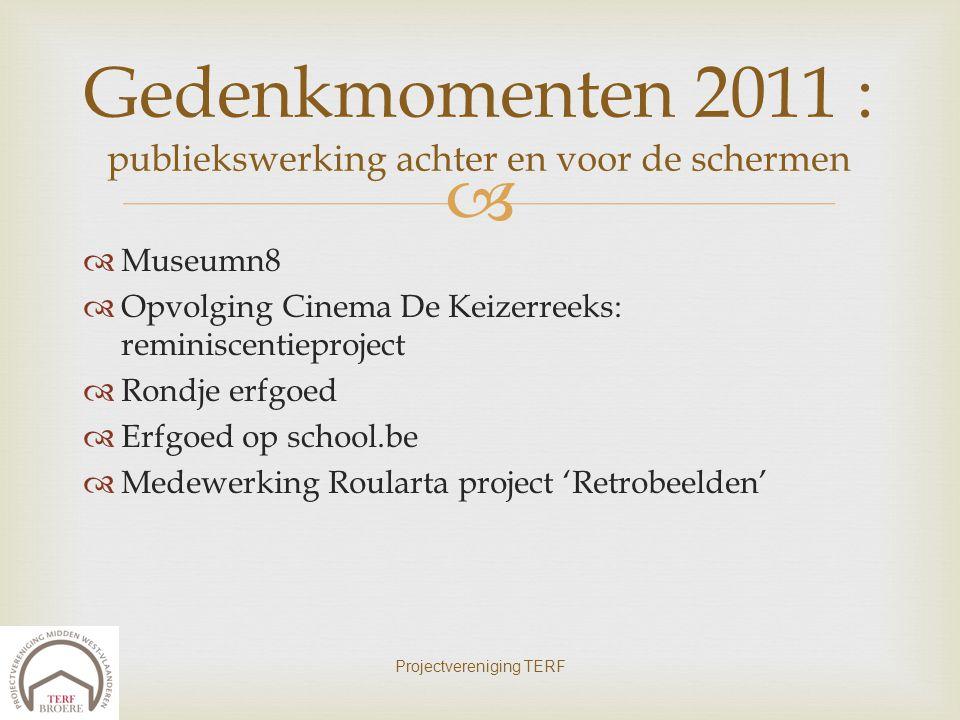 Gedenkmomenten 2011 : publiekswerking achter en voor de schermen