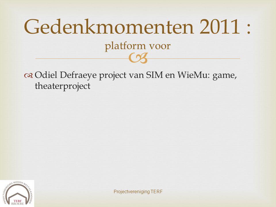 Gedenkmomenten 2011 : platform voor
