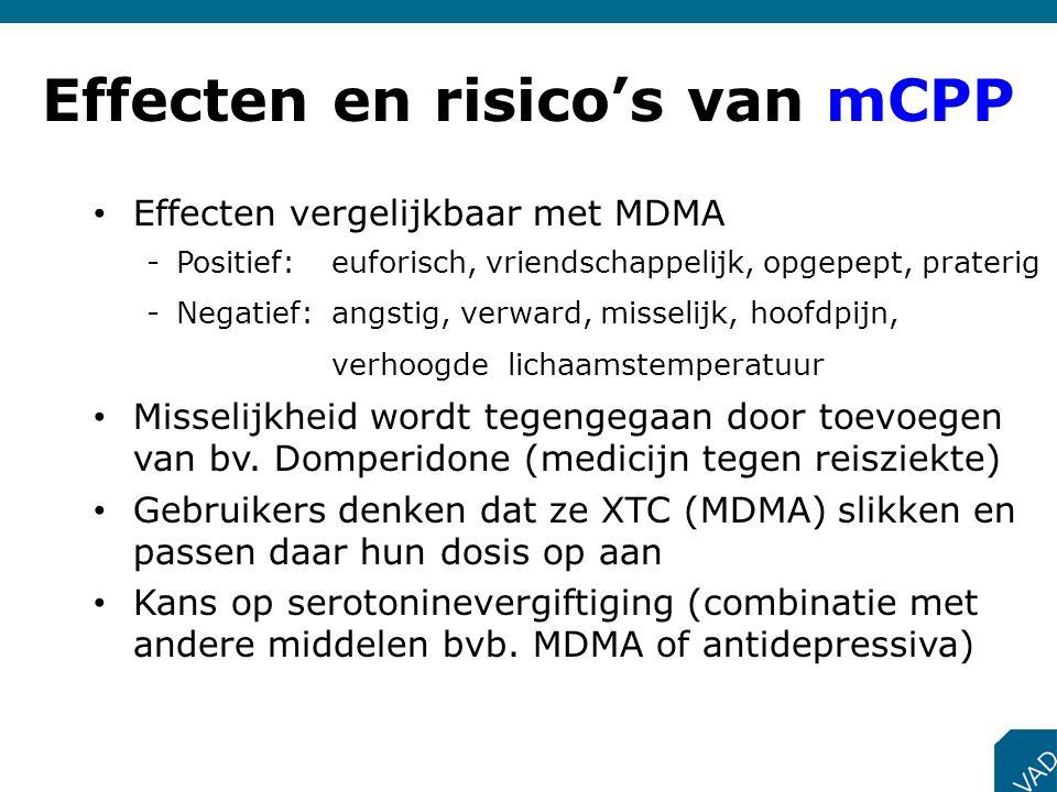 Effecten en risico's van mCPP