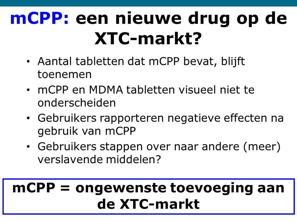 mCPP: een nieuwe drug op de XTC-markt