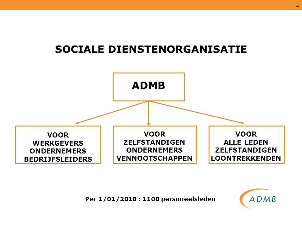 SOCIALE DIENSTENORGANISATIE