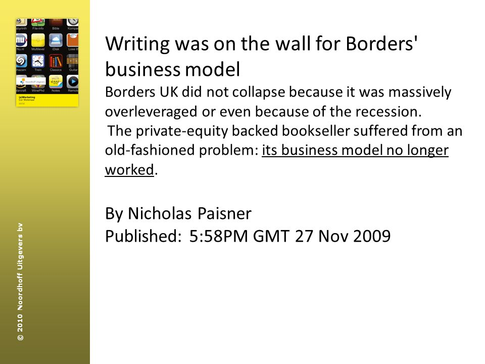 Writing was on the wall for Borders business model