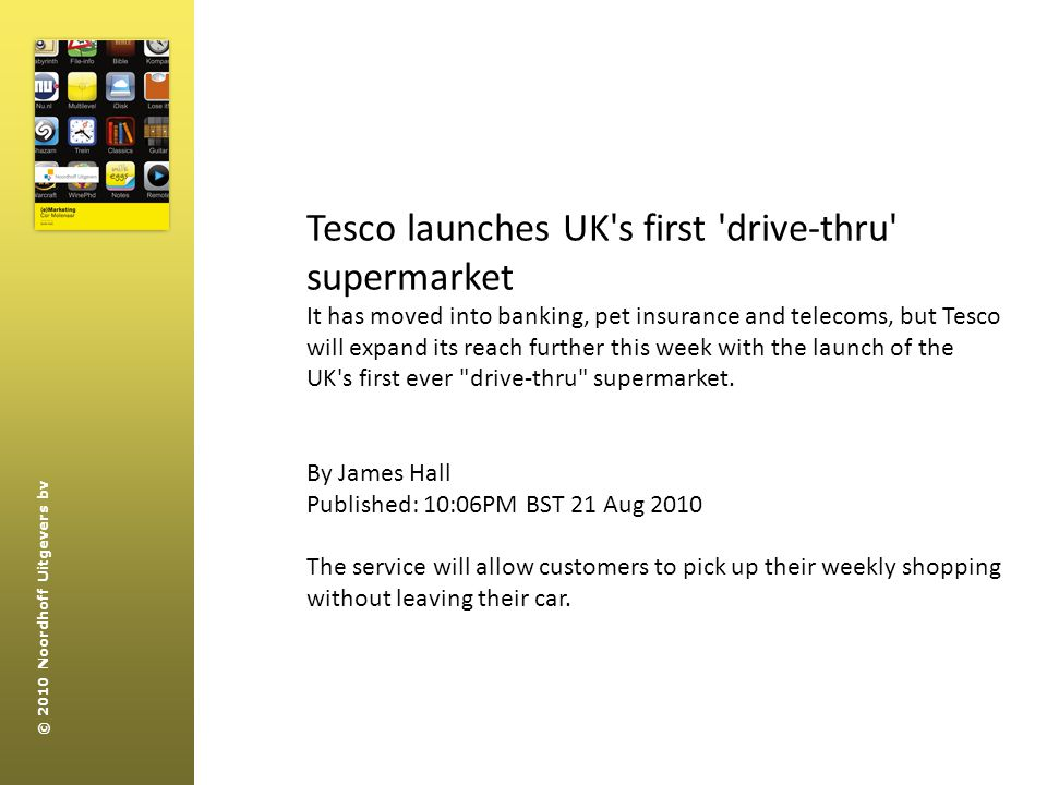 Tesco launches UK s first drive-thru supermarket