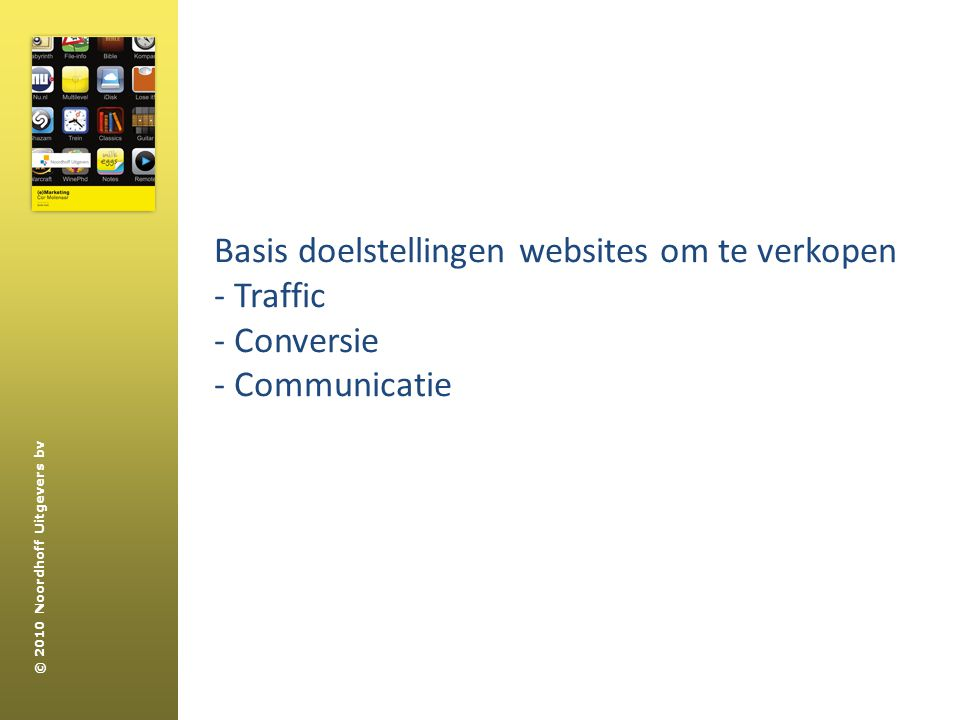 Basis doelstellingen websites om te verkopen