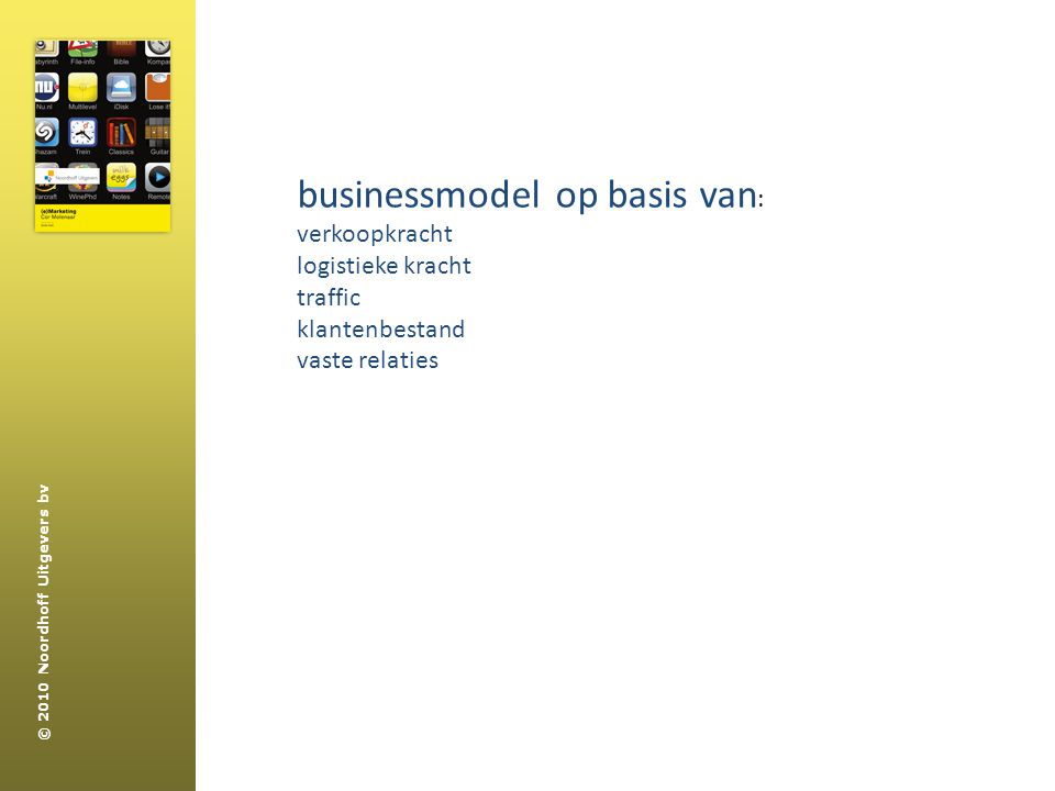 businessmodel op basis van: