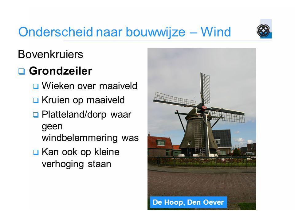 Onderscheid naar bouwwijze – Wind