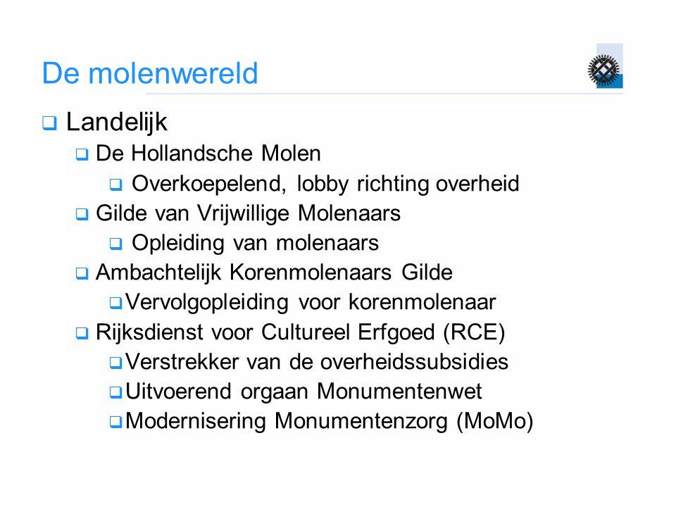 De molenwereld Landelijk De Hollandsche Molen