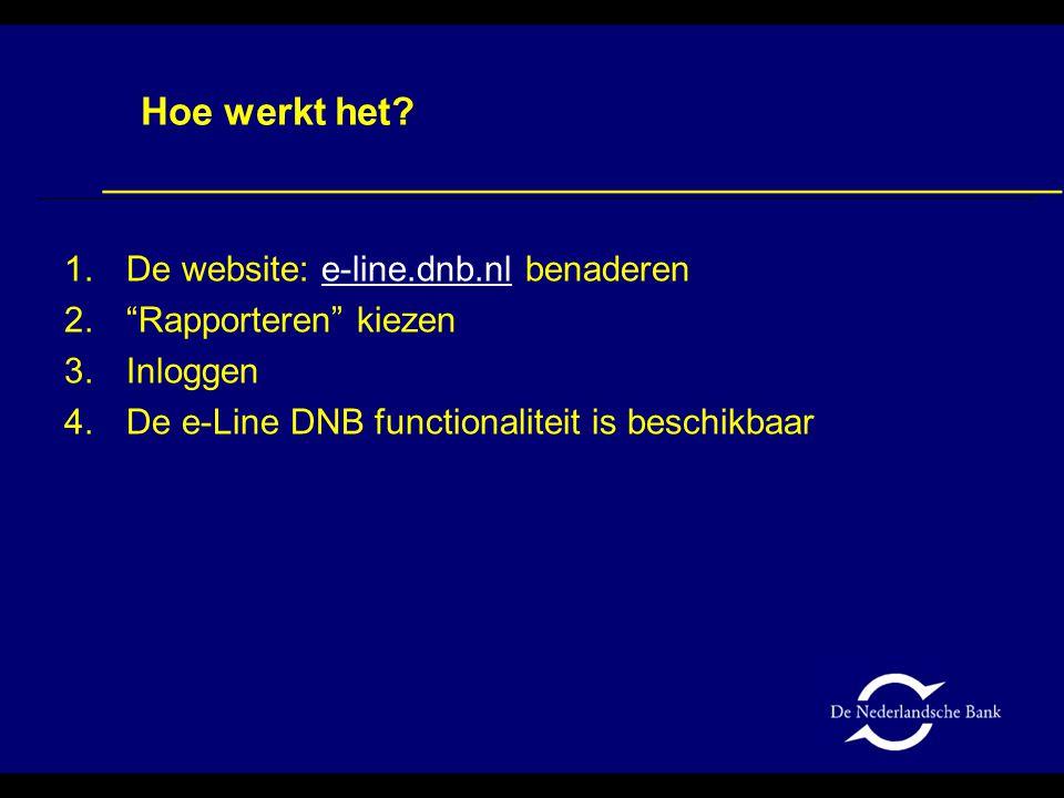 Hoe werkt het De website: e-line.dnb.nl benaderen