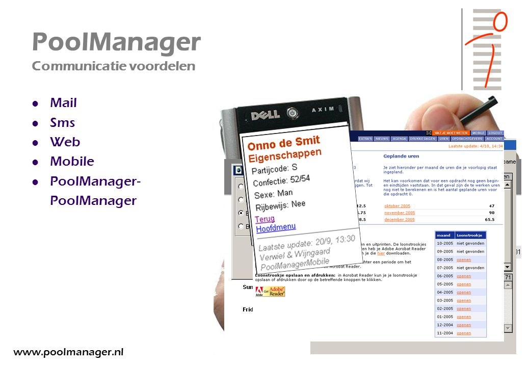 PoolManager Communicatie voordelen