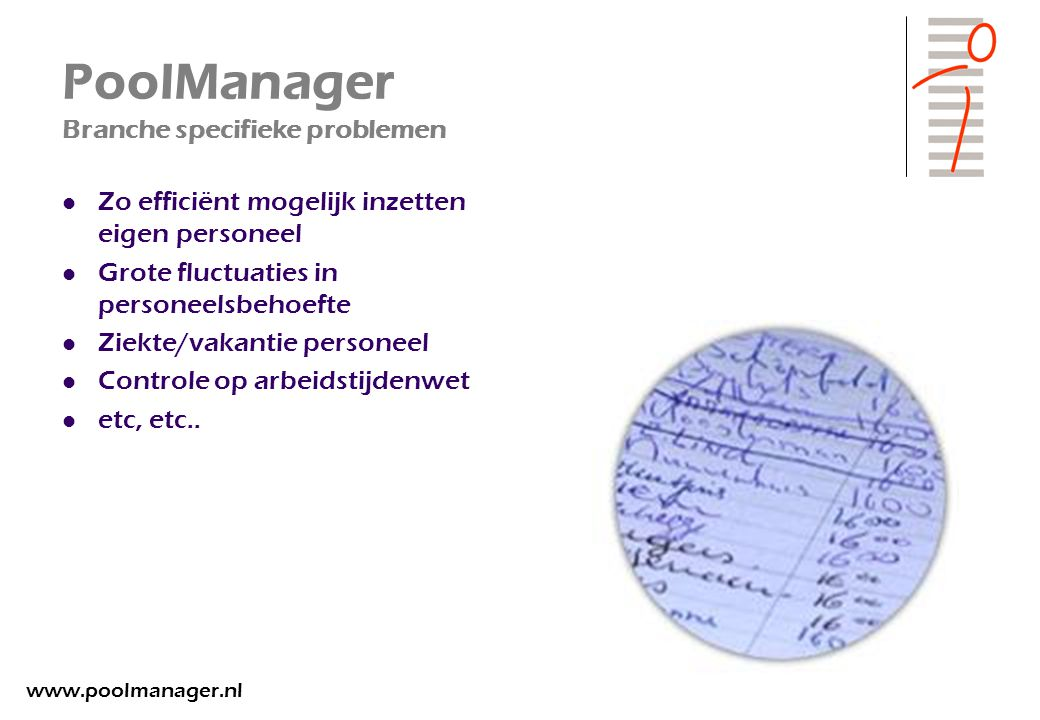 PoolManager Branche specifieke problemen