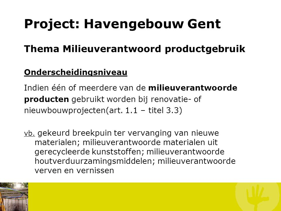 Project: Havengebouw Gent