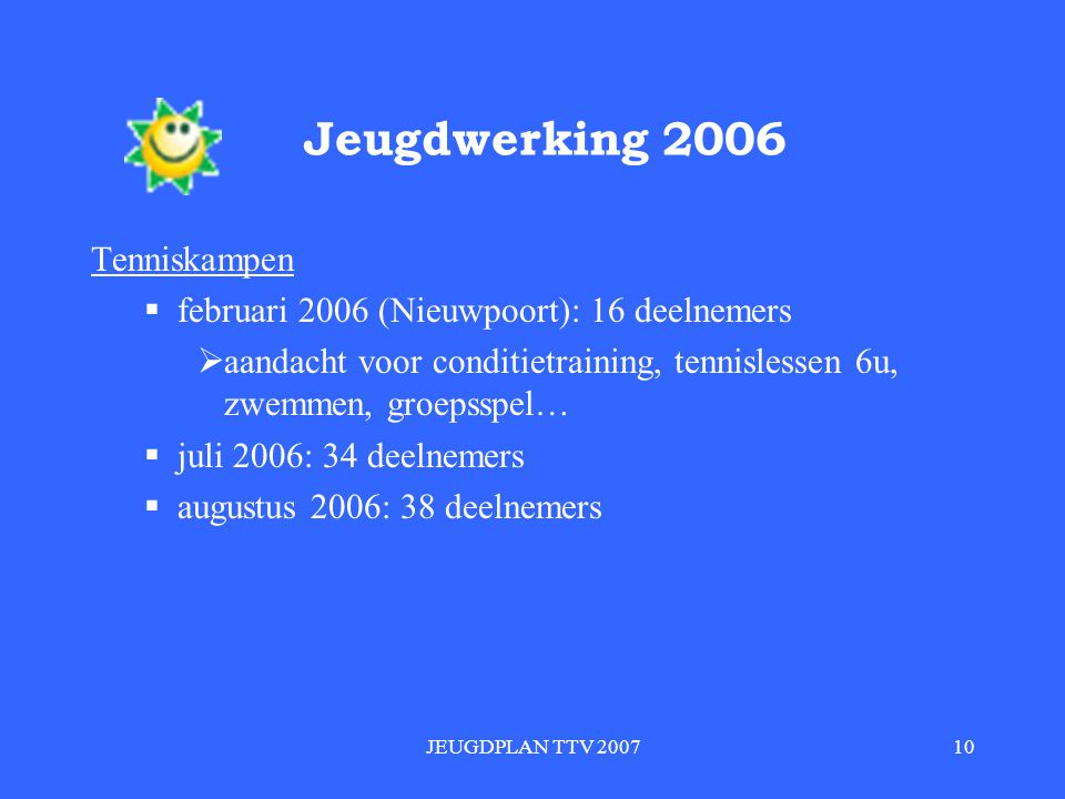 Jeugdwerking 2006 Tenniskampen