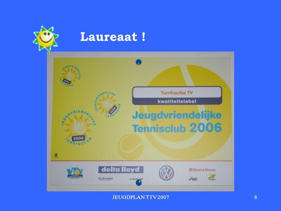 Laureaat ! JEUGDPLAN TTV 2007