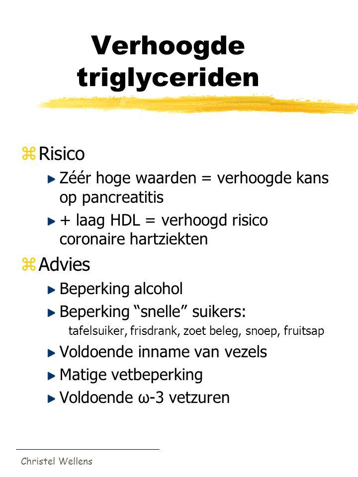 triglyceriden te hoog in bloed