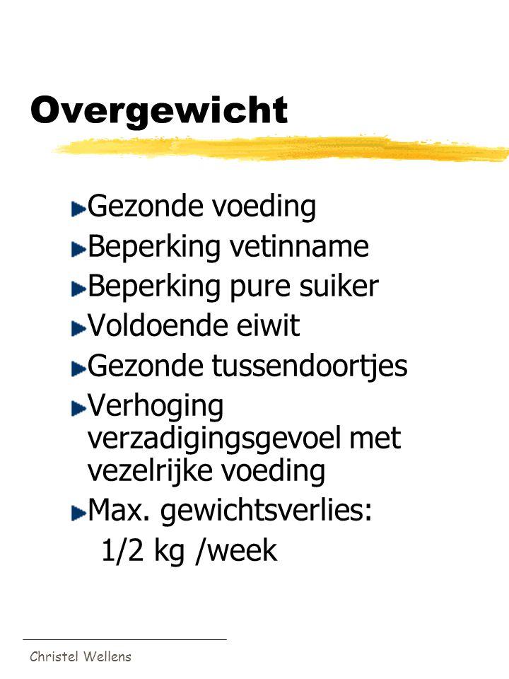 Overgewicht Gezonde voeding Beperking vetinname Beperking pure suiker