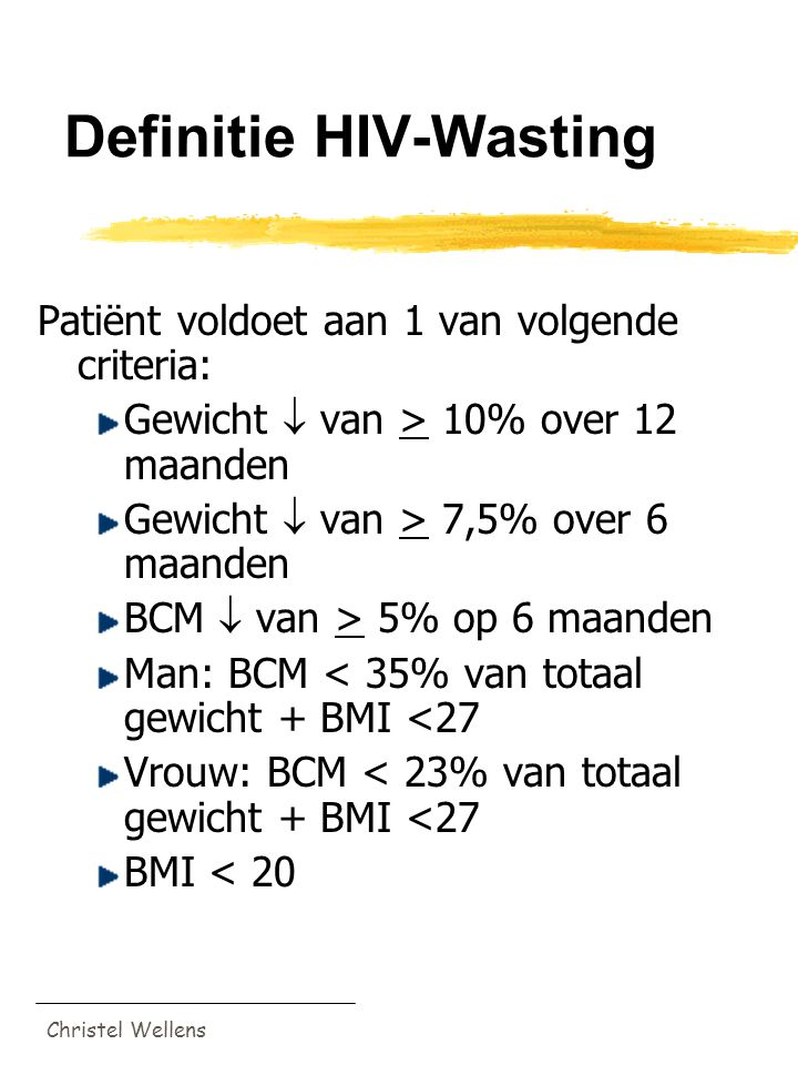 Definitie HIV-Wasting