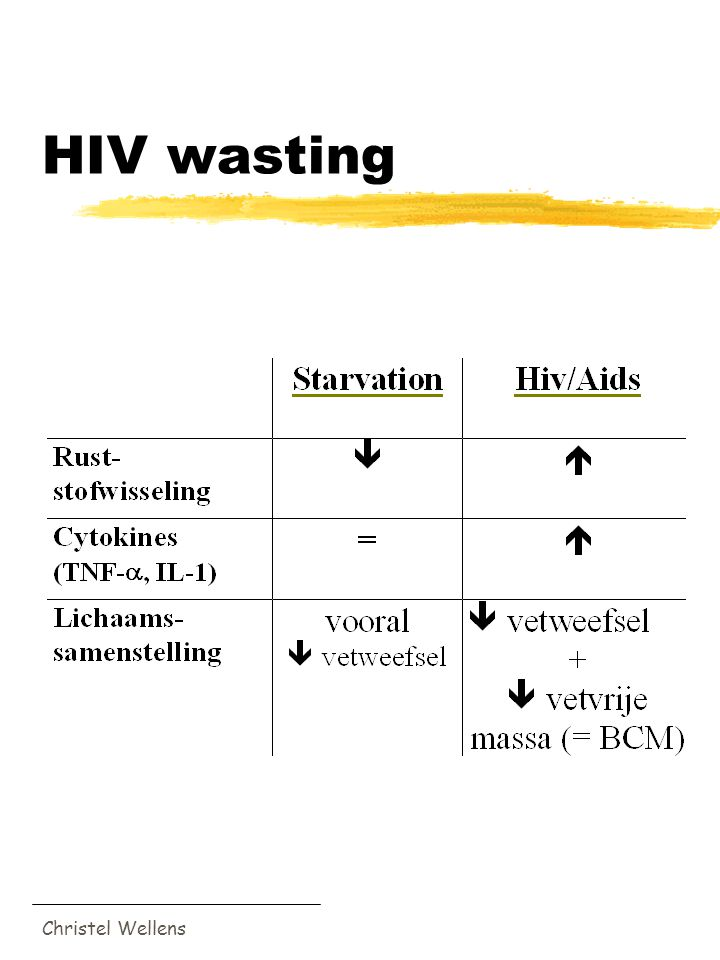 HIV wasting Christel Wellens