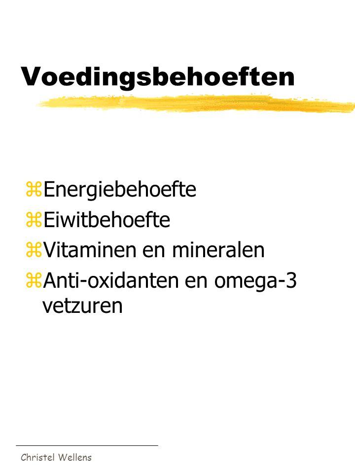 Voedingsbehoeften Energiebehoefte Eiwitbehoefte Vitaminen en mineralen
