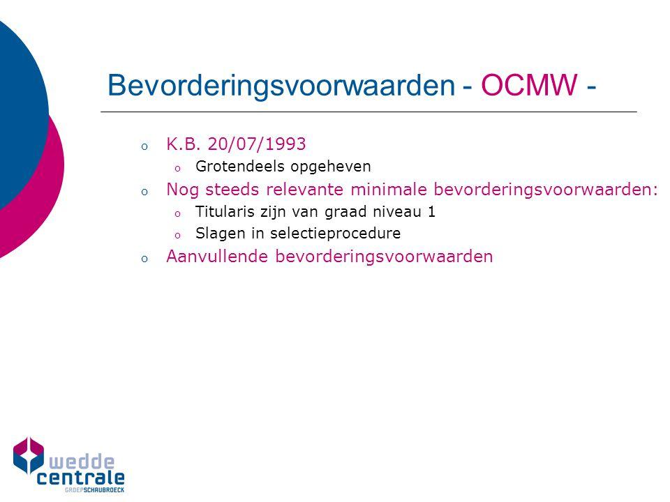 Bevorderingsvoorwaarden - OCMW -