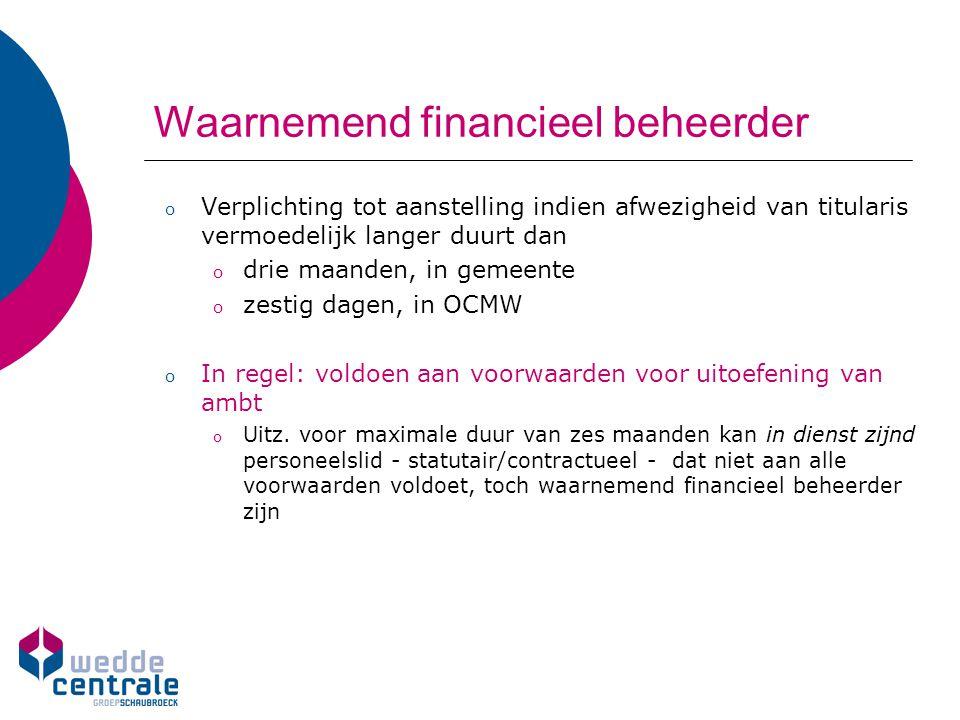 Waarnemend financieel beheerder