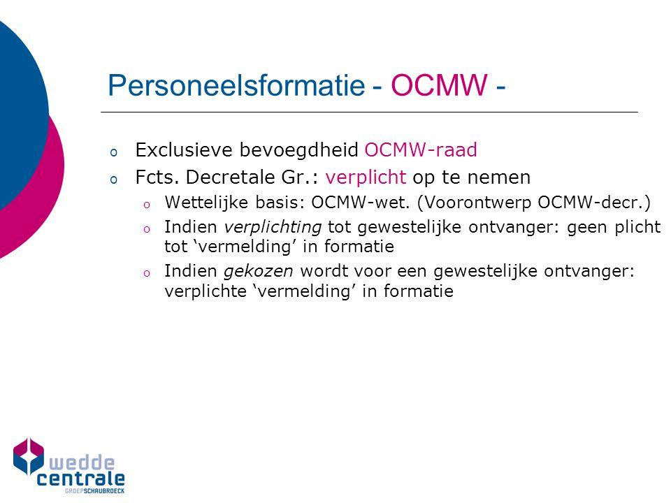Personeelsformatie - OCMW -