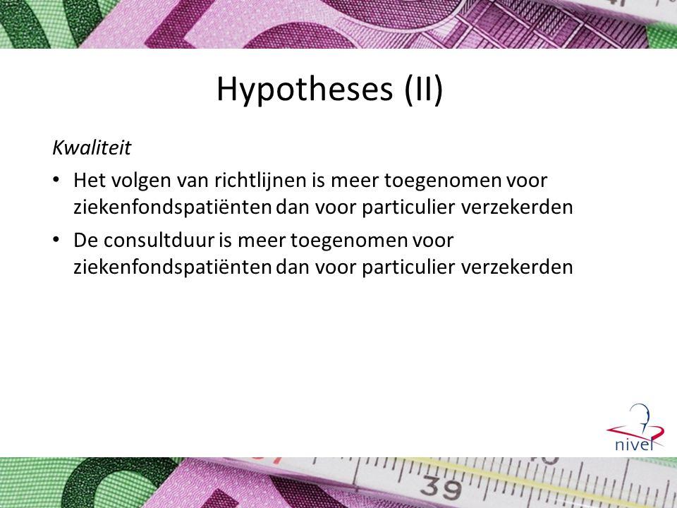 Hypotheses (II) Kwaliteit