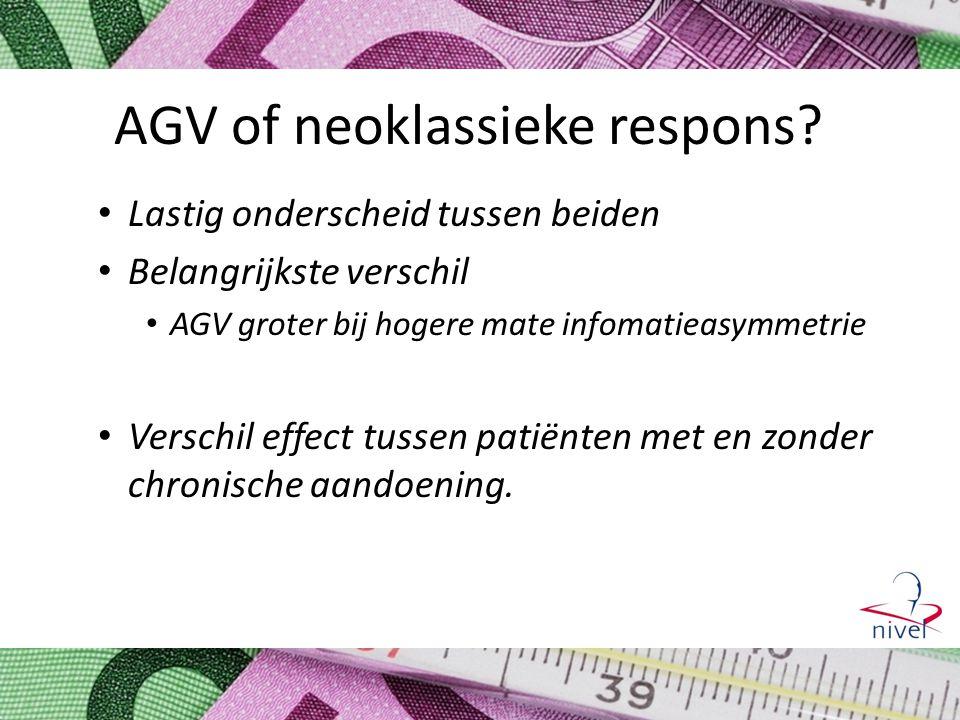 AGV of neoklassieke respons