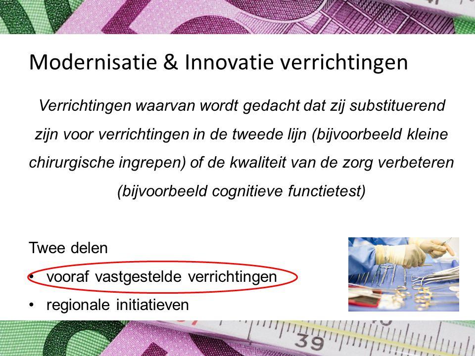Modernisatie & Innovatie verrichtingen