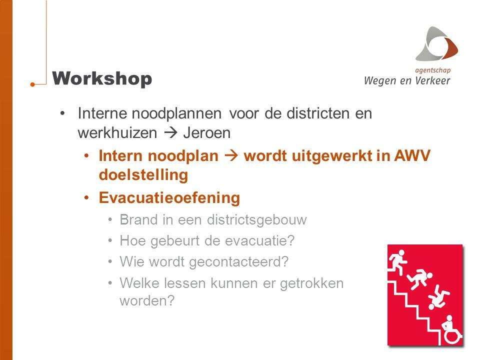 Workshop Interne noodplannen voor de districten en werkhuizen  Jeroen